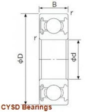 95 mm x 170 mm x 43 mm  CYSD 32219 tapered roller bearings