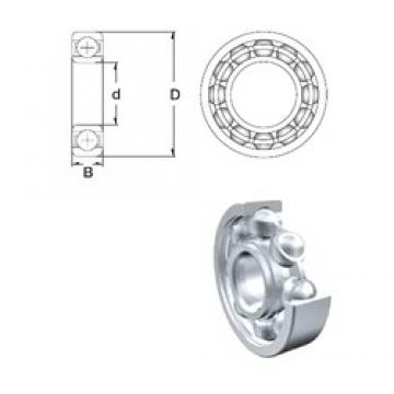 80 mm x 125 mm x 14 mm  ZEN 16016 deep groove ball bearings
