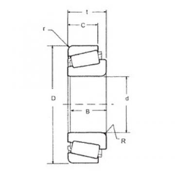 47,625 mm x 88,9 mm x 22,225 mm  FBJ 369A/362A tapered roller bearings